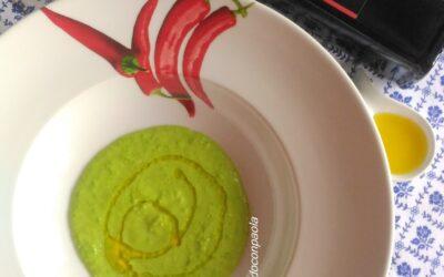 Fettuccine su Crema di Piselli e Mazzancolle saltati al Timo